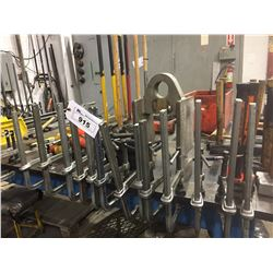 LOT OF 12 ADJUSTABLE CLAMPS
