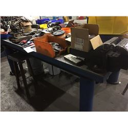 STEEL WORK TABLE WITH RECORD #7 VISE