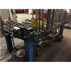 LARGE STEEL WORK TABLE WITH #6 RECORD VISE