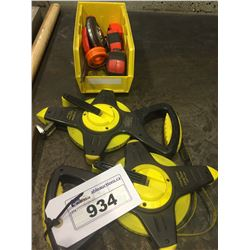 LOT OF TAPE MEASURES