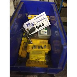 BIN WITH ASSORTED METAL CUTTERS