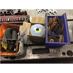 ASSORTED GRINDING WHEELS, DISCS,  AND MORE