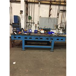 STEEL SLOT TABLE WITH  #7 RECORD VISE