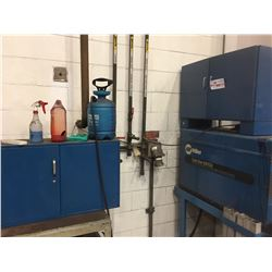 2 BLUE METAL CABINETS