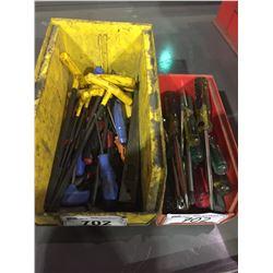 LOT OF ASSORTED SCREWDRIVERS AND ALLEN WRENCHES