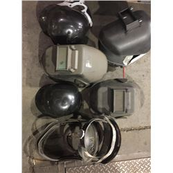 LOT OF WELDING HELMETS AND MORE