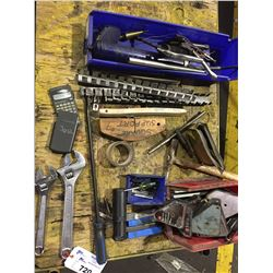 LOT OF ASSORTED TOOL, TAPS, CORNER MAGNETS, AND MORE