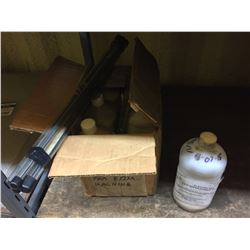 SHELF LOT INCLUDES CENTER BEARING, TOOLS, WATER PRIMER SOLVENT, AND MORE
