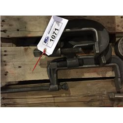 3 ASSORTED SIZE CLAMPS