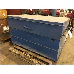 "BLUE TOOL BOX (FOR REPAIR)37""H X 60""W X 37""H"