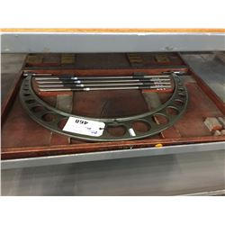 """MITUTOYO 1"""" - 24"""" MICROMETER  WITH CASE"""