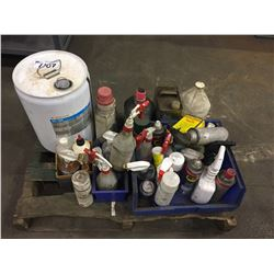 2 PALLETS OF ASSORTED FILES, GREASE GUN, LUBRICANTS AND MORE