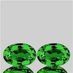 Natural Emerald Green Tsavorite Garnet Pair{VVS}
