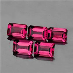 Natural Raspberry Pink Rhodolite Garnet 5 Pcs - FL