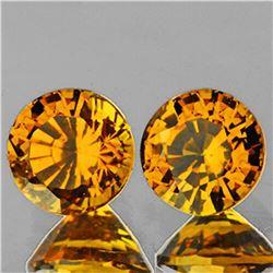 Natural Golden Yellow Mali Garnet Pair{Flawless-VVS1}