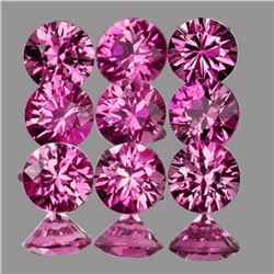 Natural Pink/Red Ruby 9 Pcs - Untreated