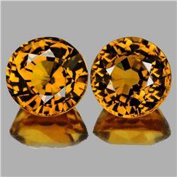 Natural  Golden Yellow Mali Garnet Pair{Flawless-VVS}