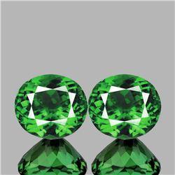 Natural Chrome Green Apatite Pair(Flawless-VVS1)