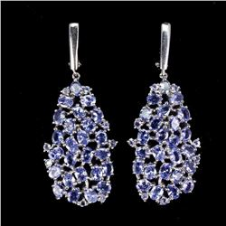 Natural Unheated Oval Tanzanite Earrings
