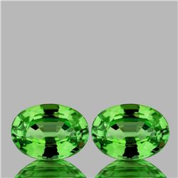 Natural Vivid Green Tsavorite Garnet Pair{VVS}