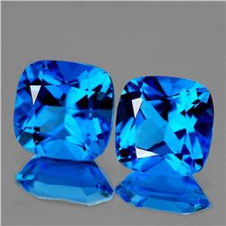 Natural Swiss Blue Topaz Pair [Flawless-VVS]