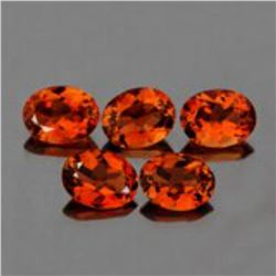 Natural Champagne Imperial Topaz 5 Pcs  {Flawless-VVS1}