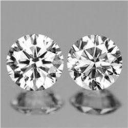 Natural White Diamond Pair G/VVS - Untreated