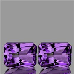 Natural AAA Purple Amethyst Pair{Flawless-VVS1}
