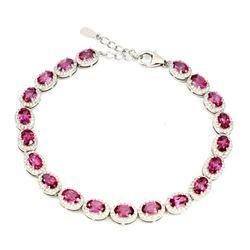 Natural Oval AAA Pink Topaz Bracelet