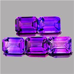 Amethyst 10 x 8 MM (5 Pcs)- VVS
