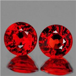 Natural AAA Red Ruby Pair{Flawless-VVS1}