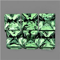 Natural AAA Green Princess Cut Sapphire [Flawless-VVS]