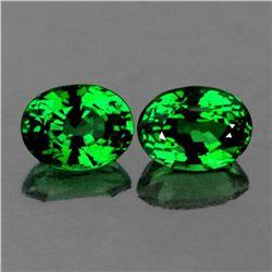 Natural Emerald Green Tsavorite Garnet Pair - FL