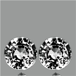 Natural AAA Fire White Sapphire Pair{Flawless-VVS1}