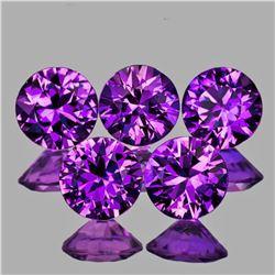 Natural Grape Purple Sapphire 5 Pcs[Flawless-VVS]