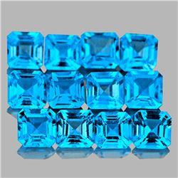 Natural Swiss Blue Topaz 4.00 MM - VVS