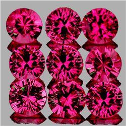 Natural Untreated Hot Pink Red Ruby 9 Pcs [IF-VVS]