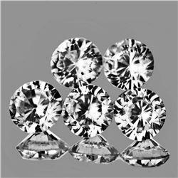Natural AAA White Zircon 5 Pcs {Flawless-VVS1}