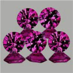 Natural Untreated Pink/Red Ruby 5 Pcs - Flawless