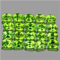 Natural Green Peridot 20  Pcs {Flawless-VVS1}