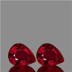Natural  AAA Fire Red Mozambique Ruby Pair 11x9 MM