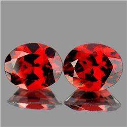 Natural Red Mozambique Garnet Pair 10x8 MM - FL