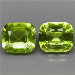 Natural Green Peridot Pair 5.01 Ct. - Untreated