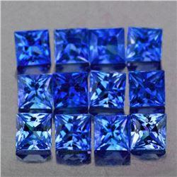 Natural Blue Princess Sapphire 12 Pcs[VVS]