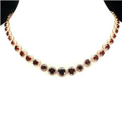 Natural Unheated African Garnet 150.76 Ct Necklace
