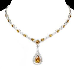 Natural Unheated  Pear Citrine Necklace