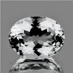 Natural Diamond White Aquamarine 10x7.85 MM - FL