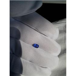 Vivid Cornflower Blue Sapphire, unheated, GIA 1.13 ct