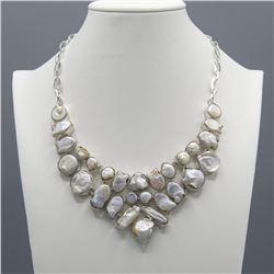 Beautuiful 205 Ct Natural Biwa Pearl Necklace