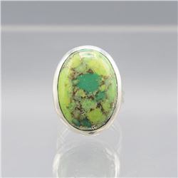 NATURAL 14.5 CT GREEN TURQUOISE COPPER RING